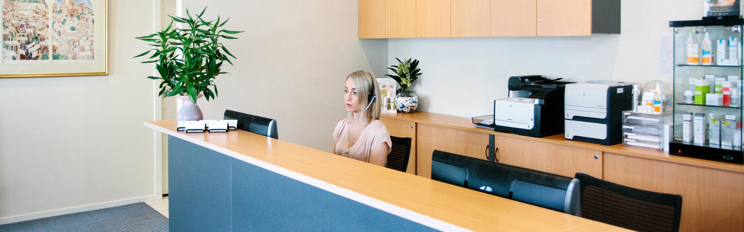 Bayside Reception - Dermatology Clinic - Brighton